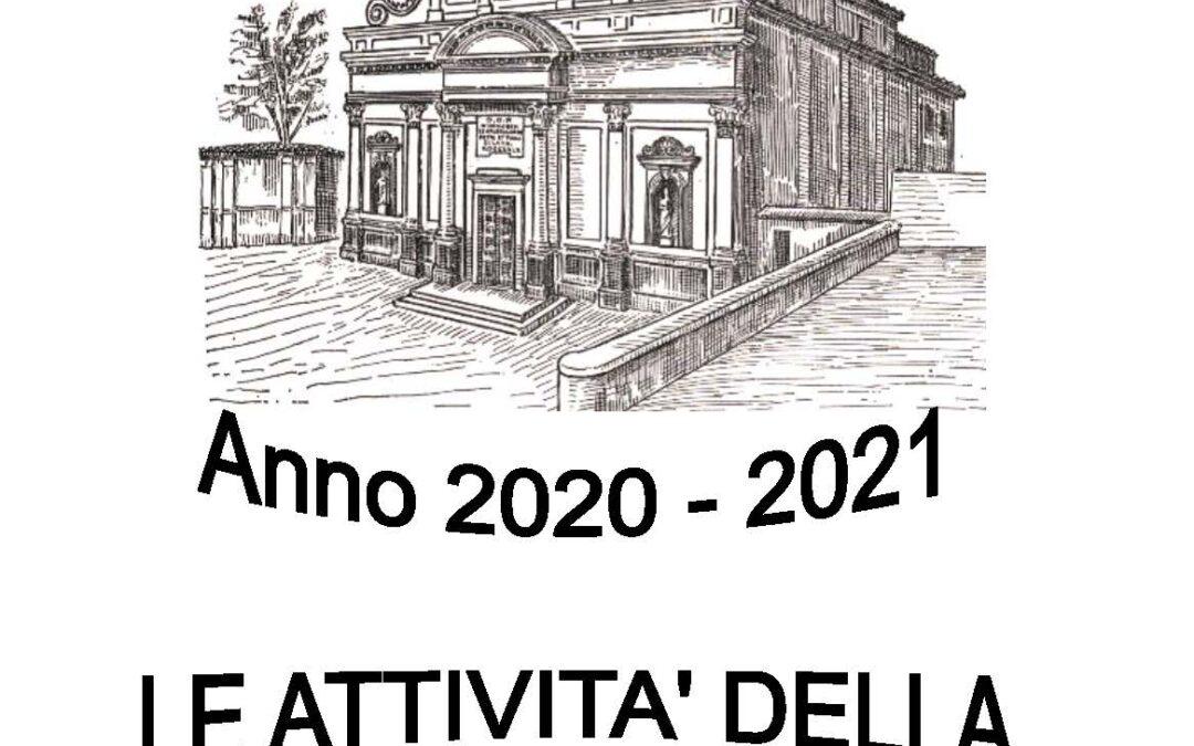 Anno 2020 – 21 Le attività della nostra Comunità
